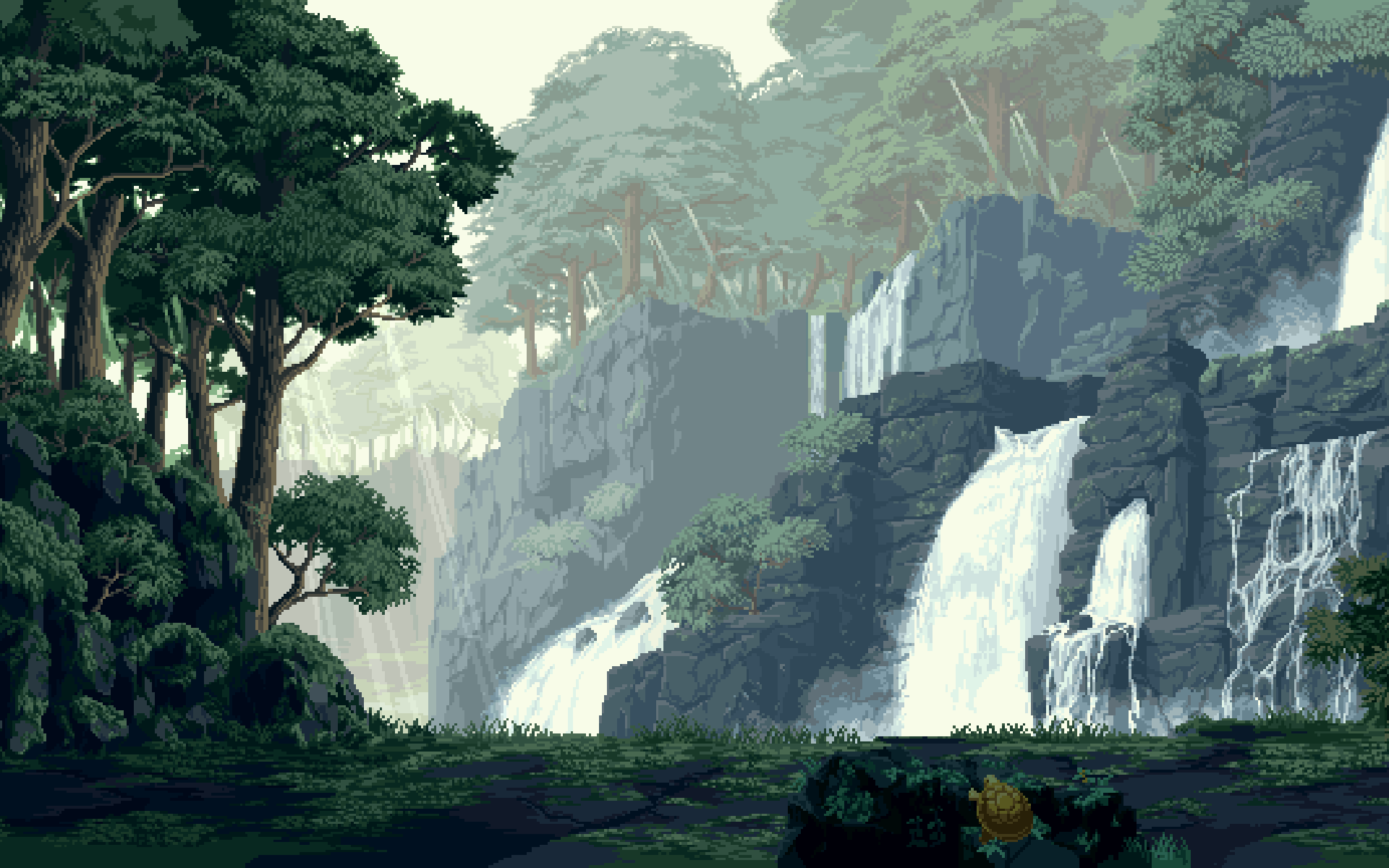 Beautiful Pixel Art Pixelkunst, Landschaft und Bilder