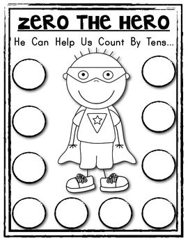 Zero The Hero Poster Student Math Helper Count By 10s For