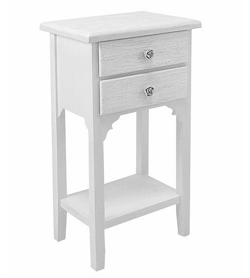 Mesas de noche blancas mesa de noche versalles material madera de roble preciosa mesita de - Mobiletto portatelefono ikea ...