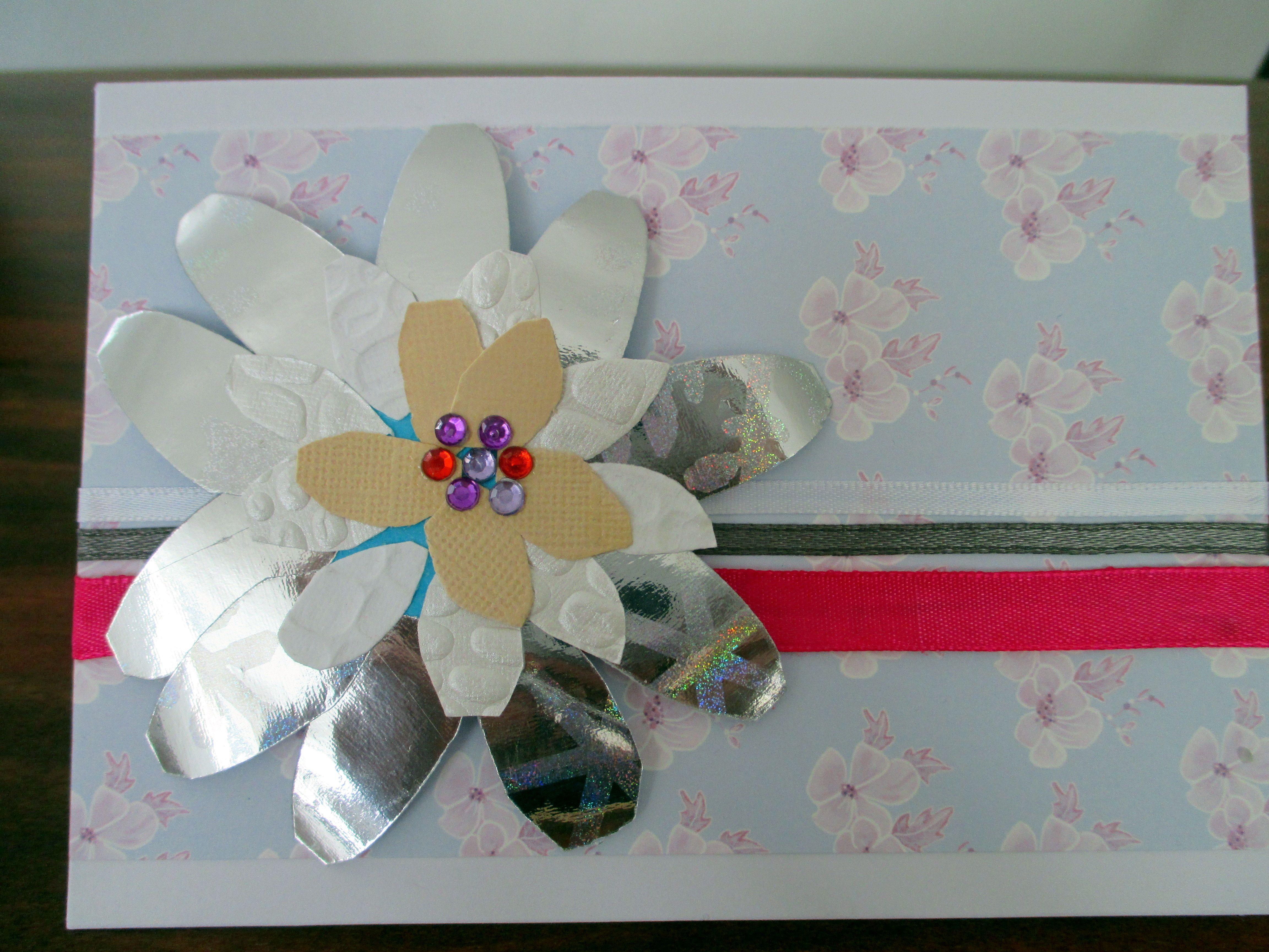 Handmade card with a scrap paper flower hand made cards handmade card with a scrap paper flower mightylinksfo