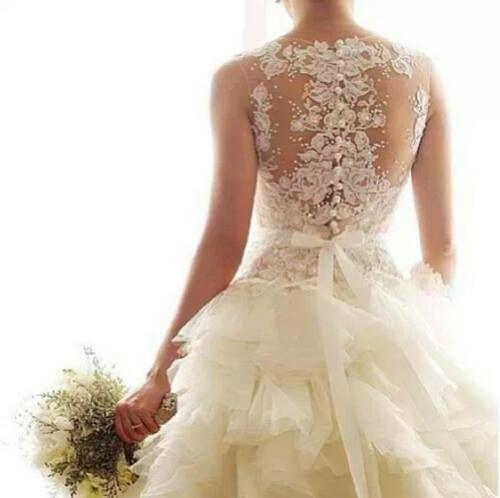 Amazing lace back wedding dress wedding dresses pinterest amazing lace back wedding dress junglespirit Images