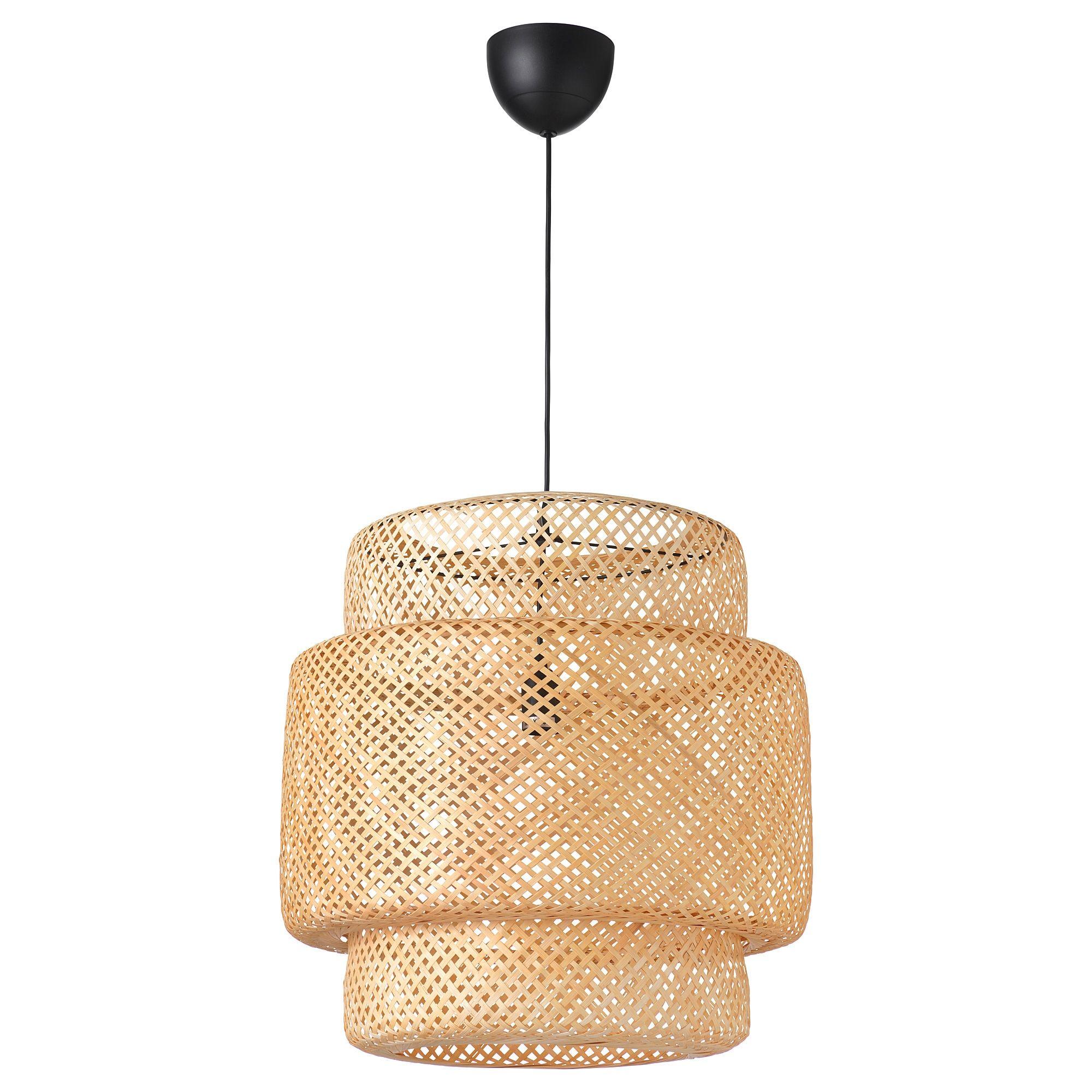 SINNERLIG Pendant lamp, bamboo IKEA