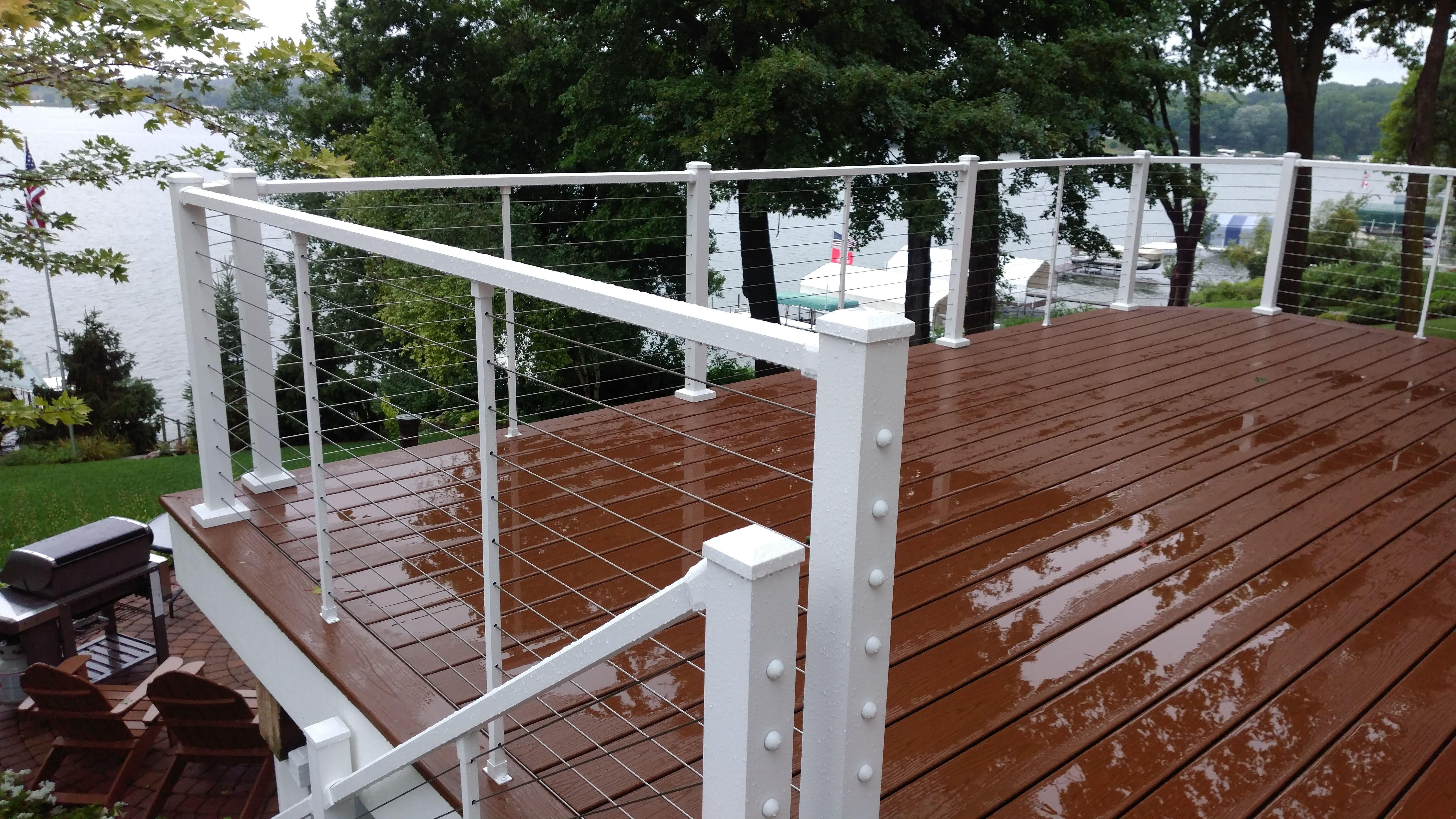 Skyline Cable Deck Railing System Building A Deck Deck Design Diy Deck