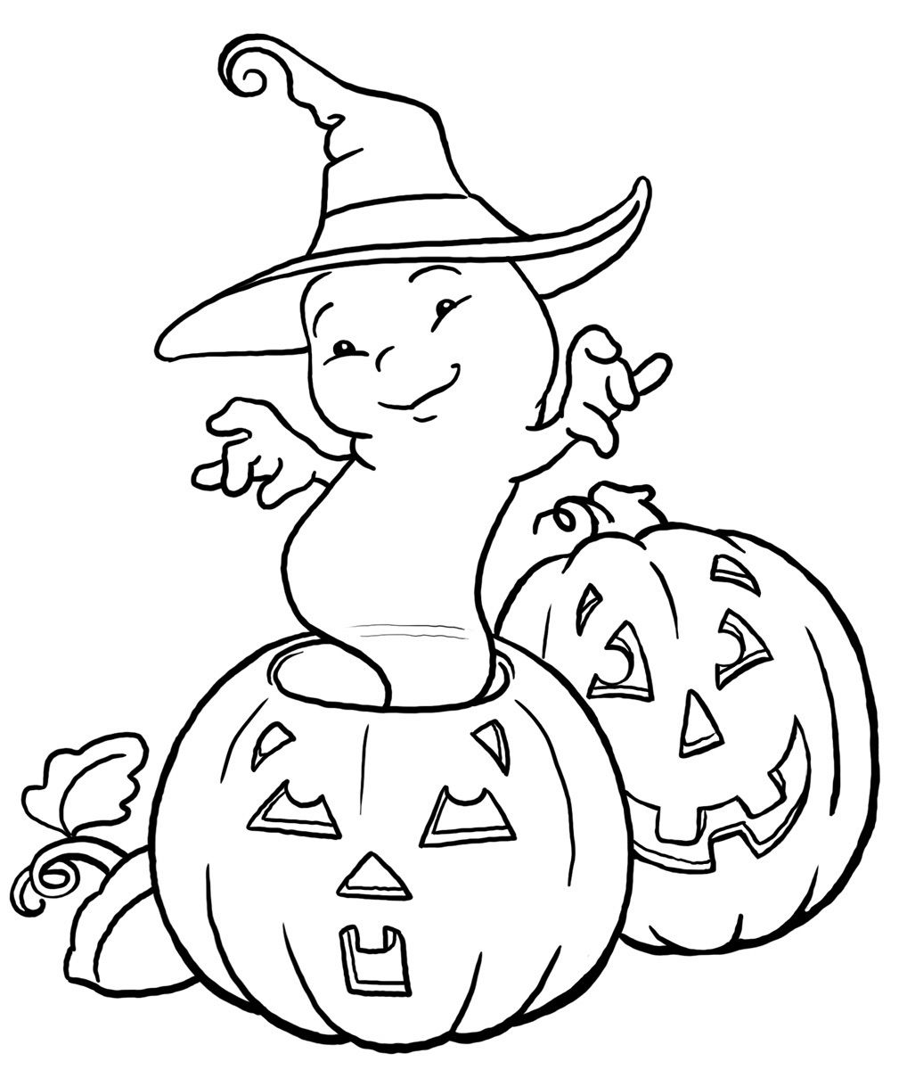 ghost and pumpkin printable halloween coloring pages halloween coloring pages ghost coloring pages pumpkin coloring pages free online coloring pages and - Free Online Halloween Coloring Pages
