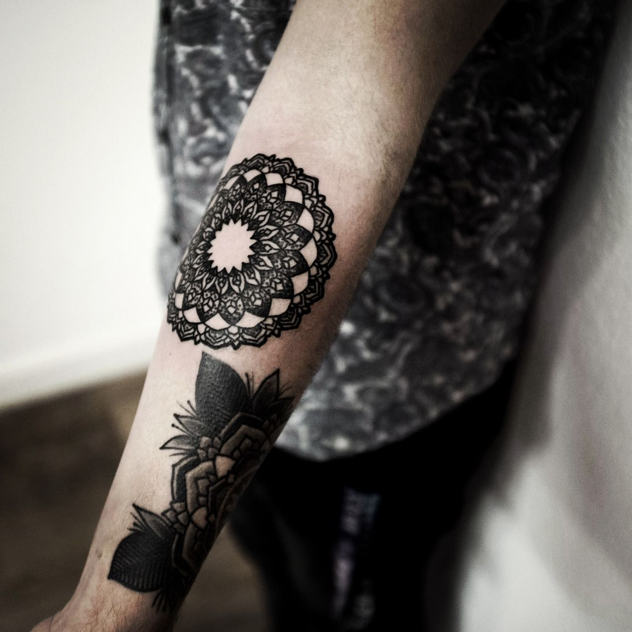 Art black inked tattoo ink tattooed blackwork tattooist for Black tattoo ink