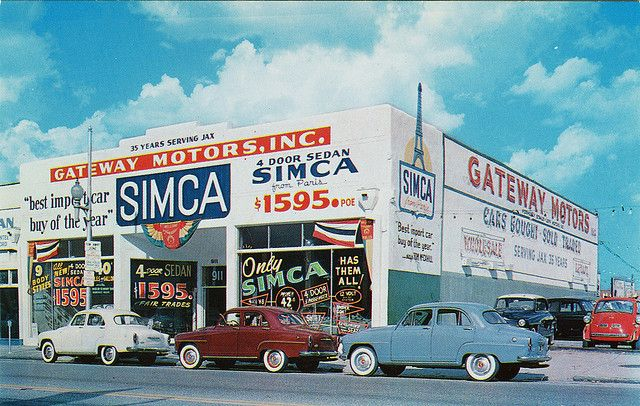 Gateway Motors, Inc., Simca Dealership, In Jacksonville
