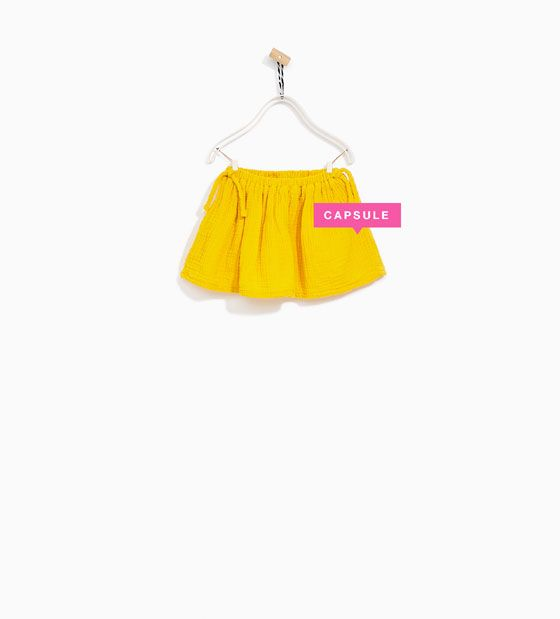 Zara dress for baby girl with yellow skirt
