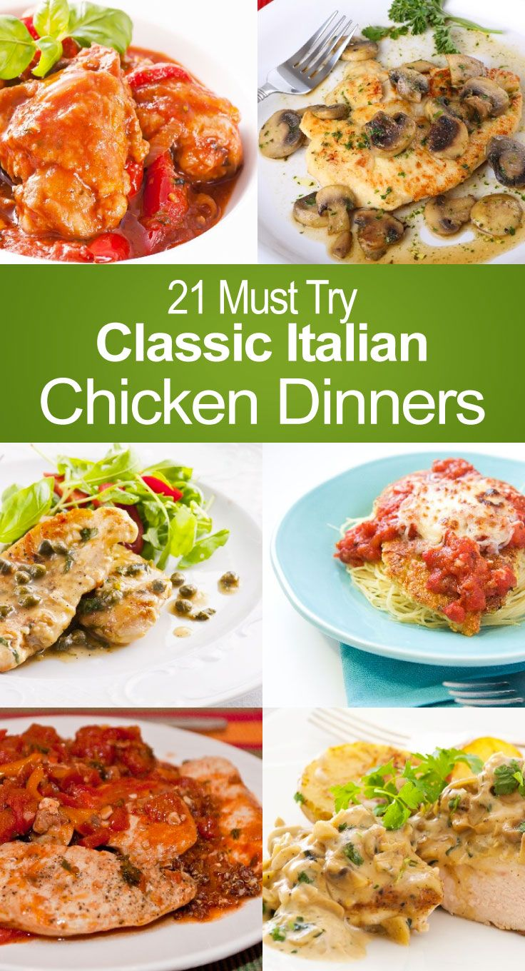 21 Must Try Classic Italian Chicken Dinners