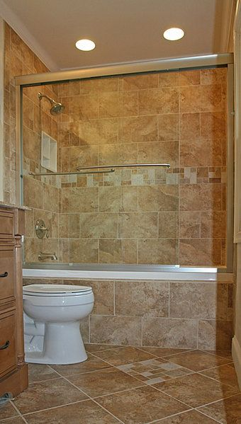 Love All The Tileand The Showertub Combo With The Doors Pleasing Tile Shower Designs Small Bathroom Inspiration