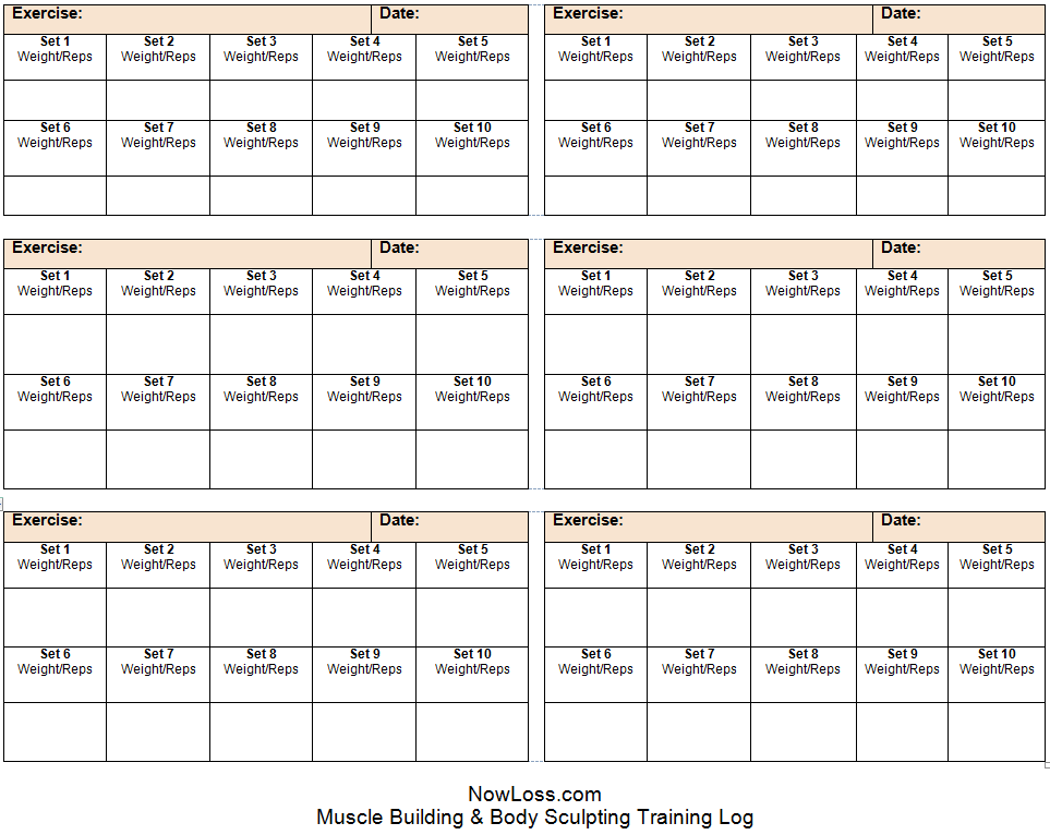 Free Workout Schedule  See An Example Of How To Use This Training