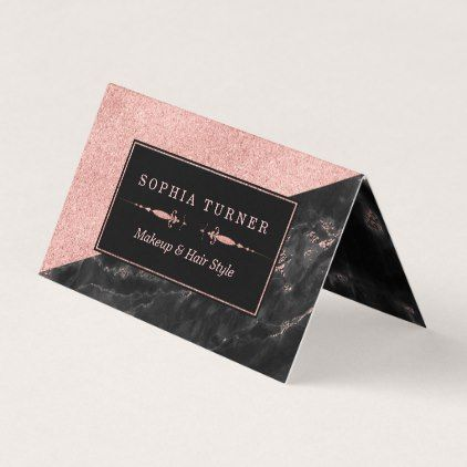 Rose gold marble makeup artist hair stylist custom business card rose gold marble makeup artist hair stylist custom business card artists unique special customize presents reheart Choice Image