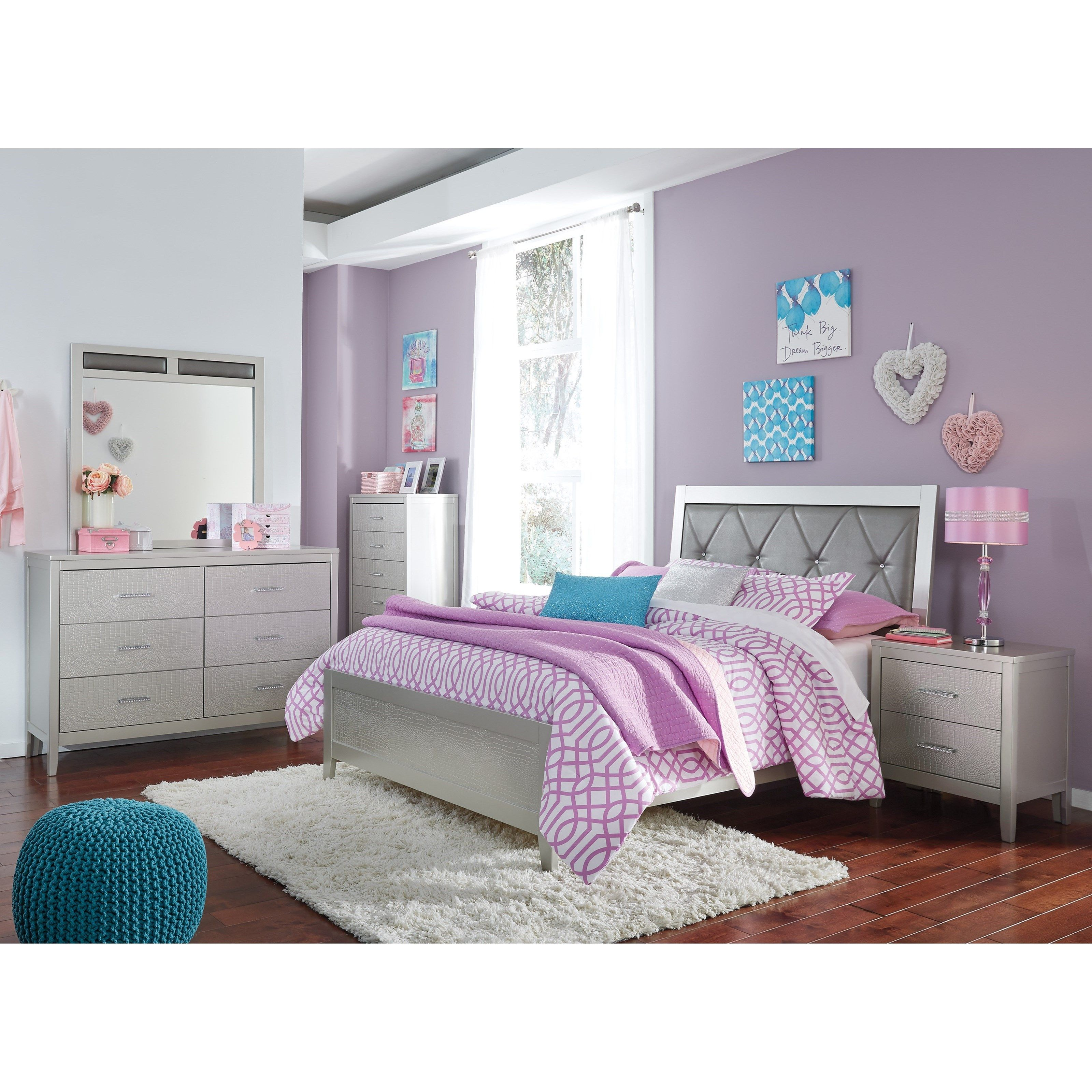 Olivet Glam Full Bedroom Group by Signature Design by