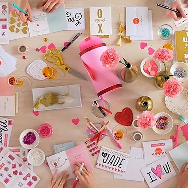 Exceptional Card Making Party Ideas Part - 6: Never Knew Galentines Day Was A Thing! Fab Card Making Party Idea From  @think
