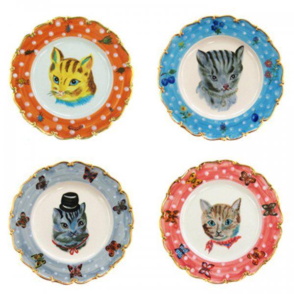 Cat Plates from French designer Nathalie Lété via Marie Claire Idées.  sc 1 st  Pinterest & La bonne fée Nathalie Lété | Pottery
