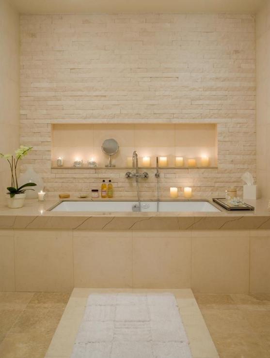 Vierkant bad build in 39 onderbouw 39 dwz bad onder marmeren plaat hier gecombineerd met wall - Plaat bad ...