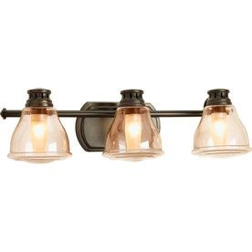 Progress Lighting 3 Light Academy Antique Bronze Bathroom Vanity Light