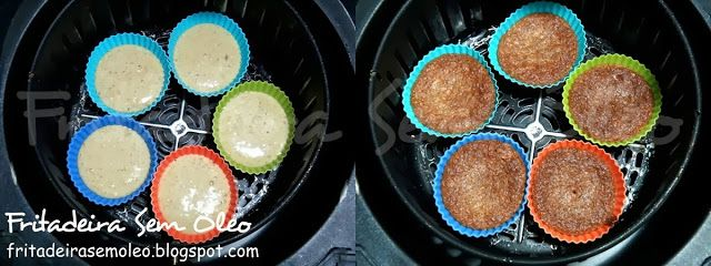 Cupcake Integral de Banana e Aveia na AirFryer | Fritadeira sem Óleo - AirFryer