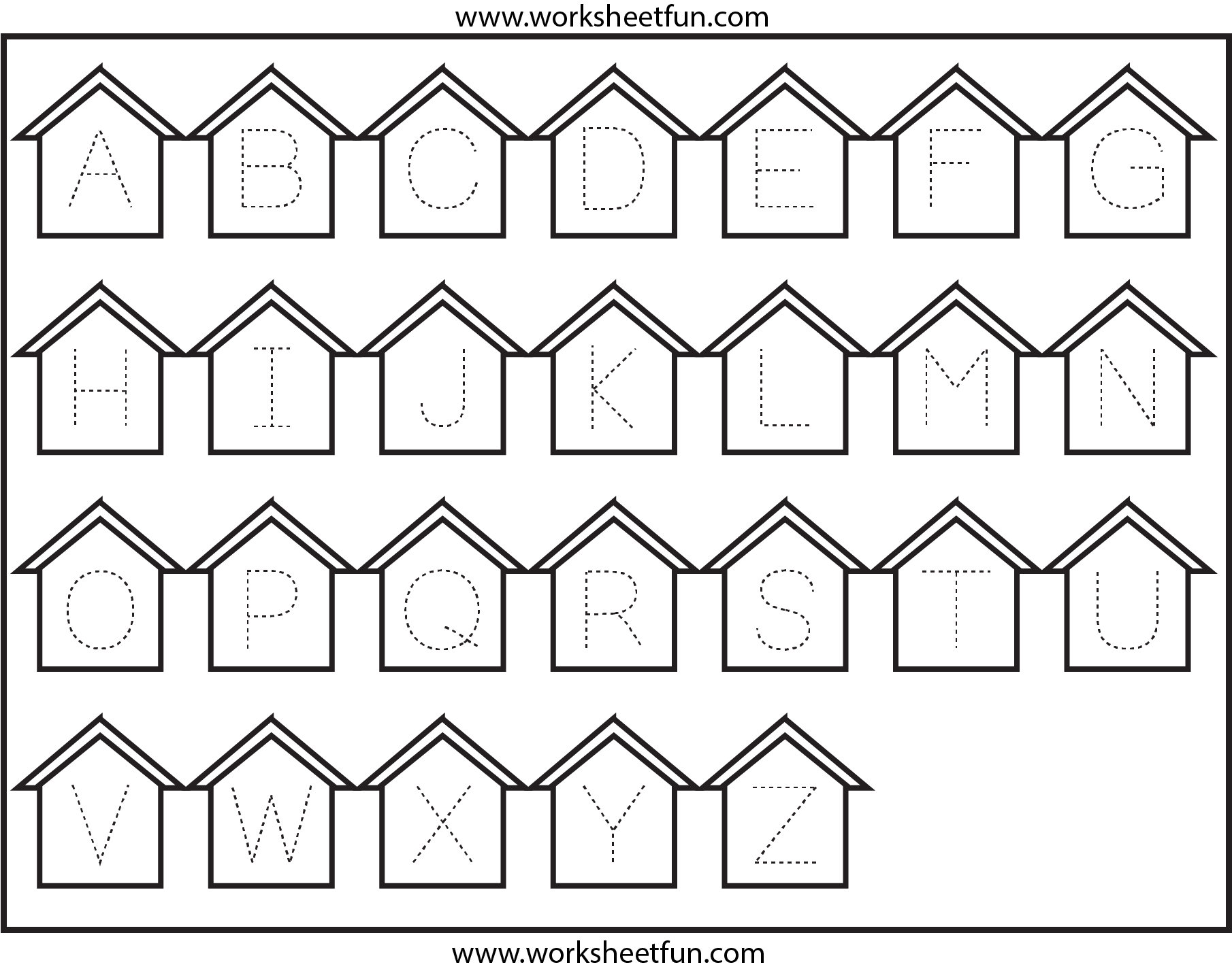 Worksheets Tracing The Alphabet Worksheets For Kindergarten letter tracing worksheets for kindergarten alphabet printables kids activity shelter alphabet
