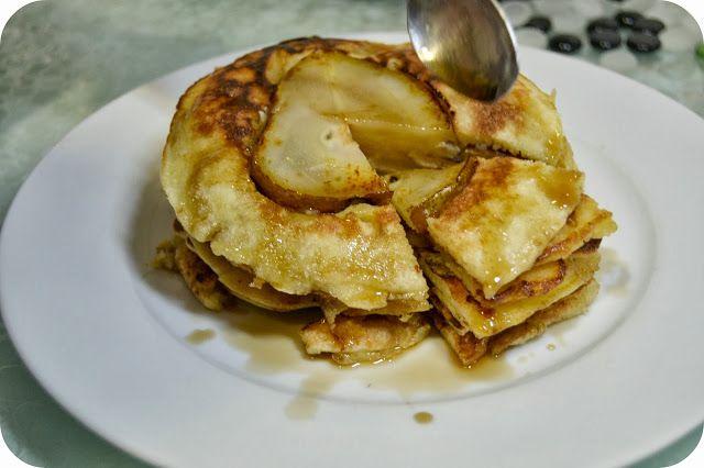 Tortitas de pera http://larosadulce.blogspot.com.es/2013/12/tortitas-de-pera-de-donna-hay.html