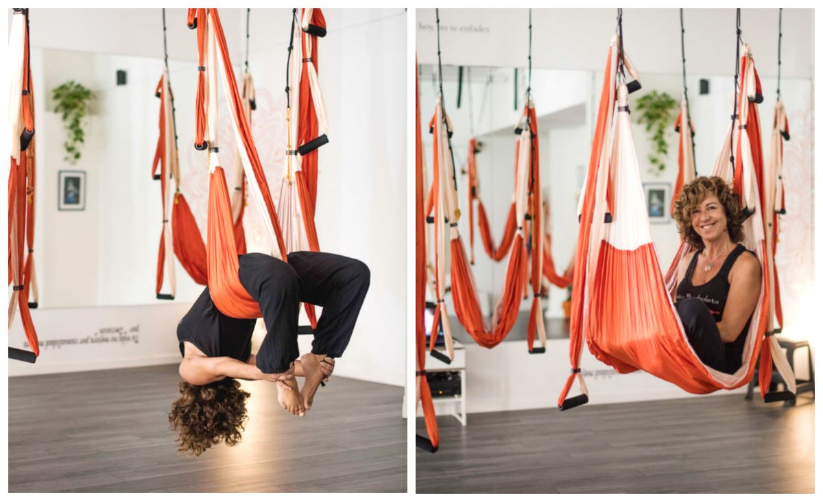 Aerial Yoga Around World With Aeroyoga Airyoga Aeroyoga Swing Columpio Trapeze Gravity Teacher Training Classes Studio Ce Aerial Yoga Air Yoga Teacher Training