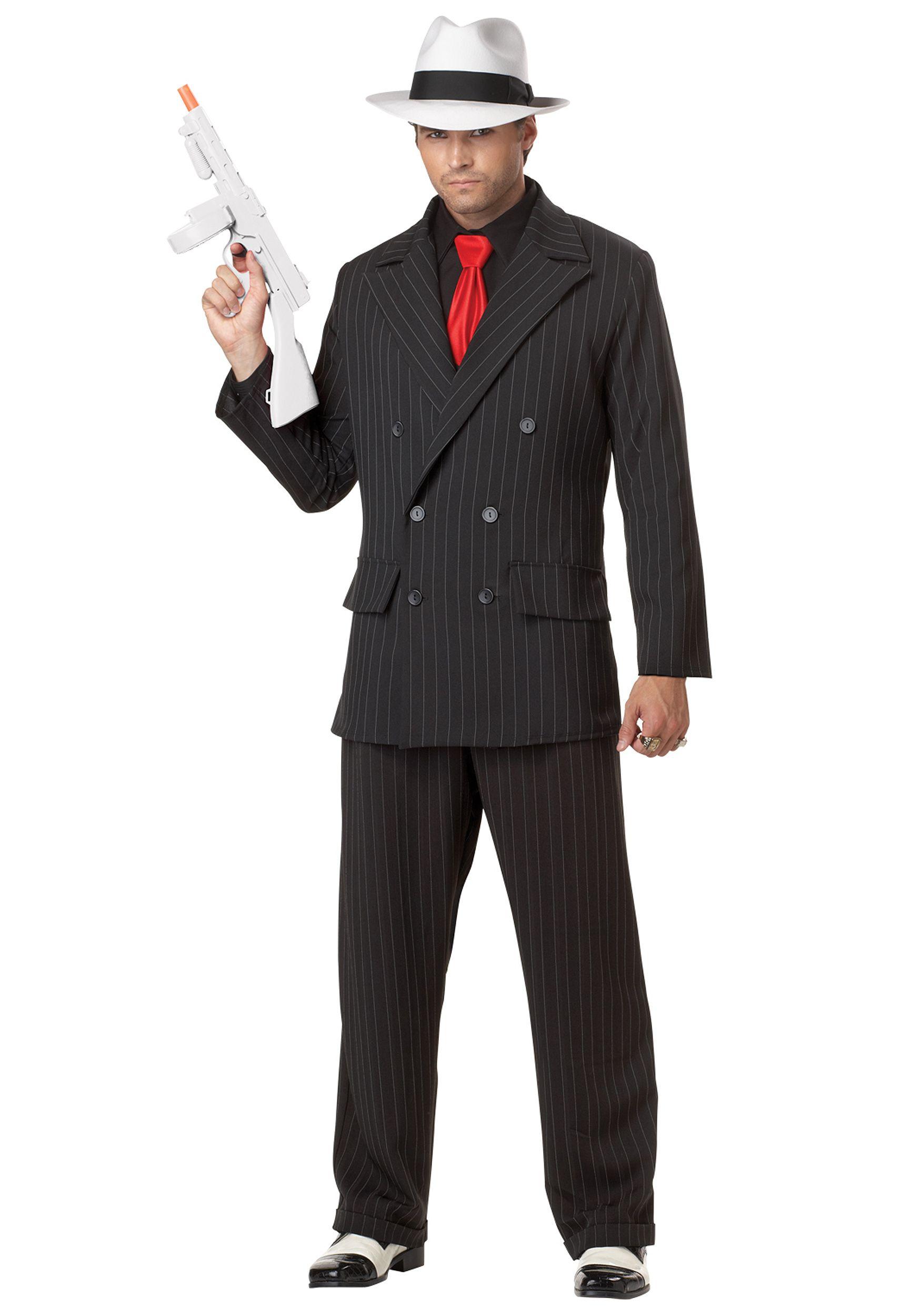 Brand New Adult Men Massive Mobster Gangster Mafia Costume