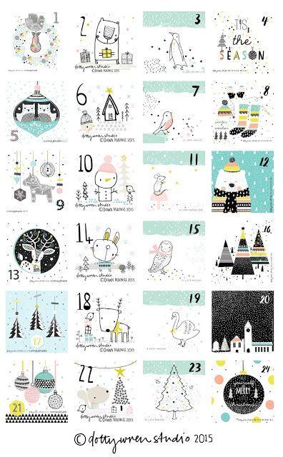 merry christmas! (dottywrenstudio)   Merry, Advent calendars and Xmas
