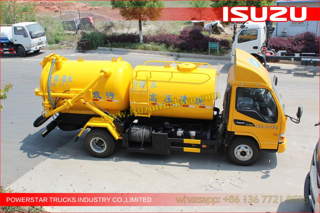 ISUZU Trucks mounted Jetting vacuum trucks Trucks