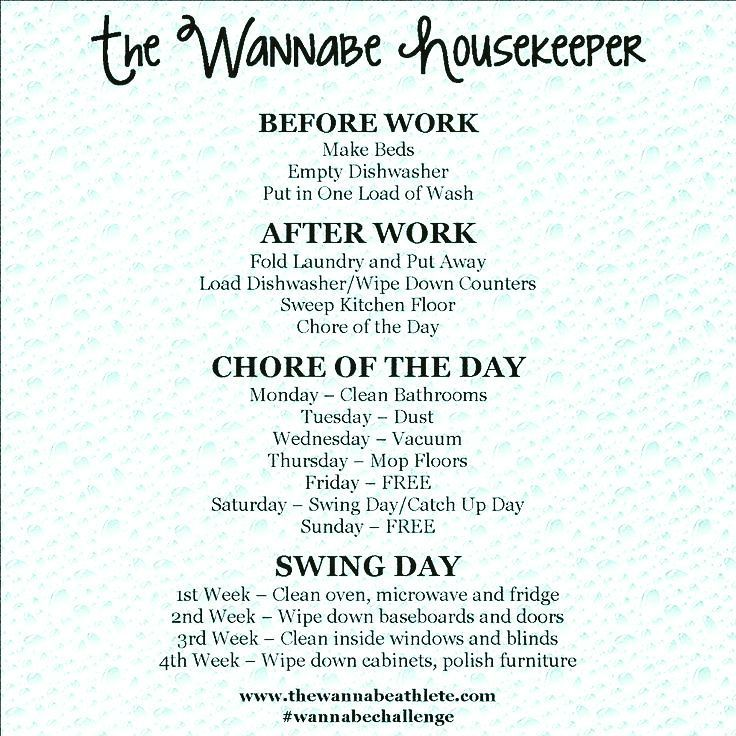 Honey on Instagram \u201cPosting this because I need to get my housework - housework schedule