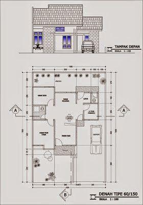 42 Gambar Dan Denah Rumah Minimalis Type 60 Denah Rumah Rumah Rumah Minimalis