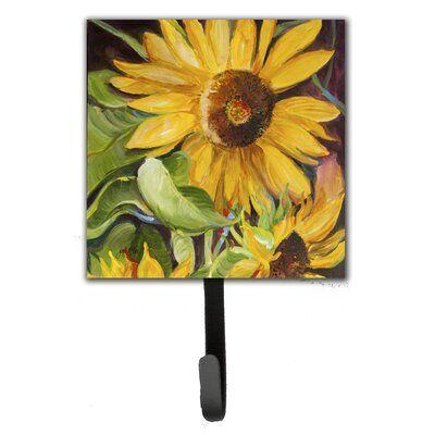 Caroline's Treasures Sunflowers Leash Holder and Wall Hook | Wayfair