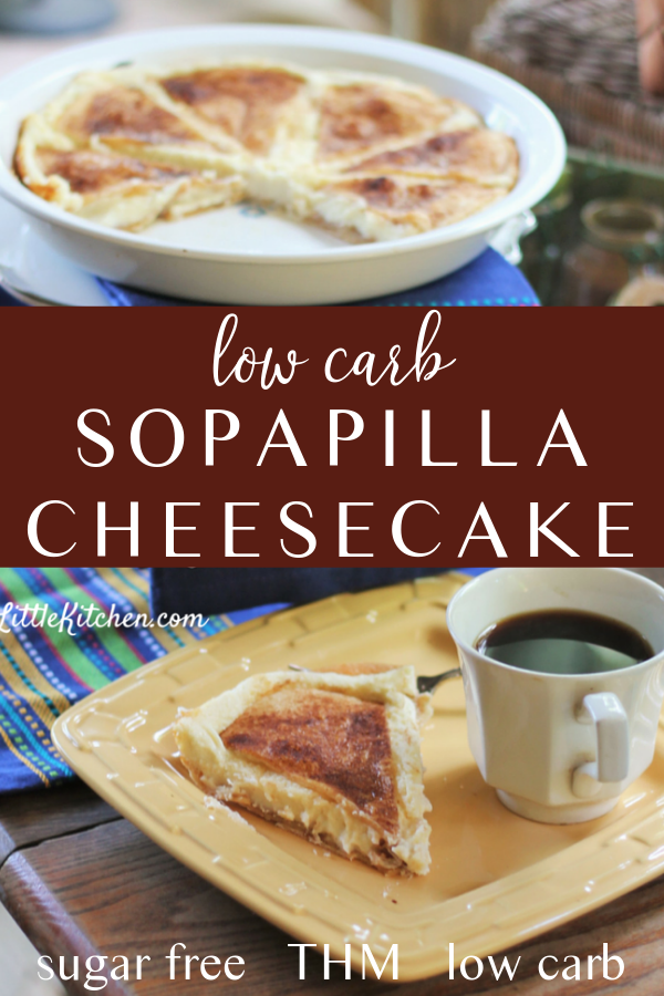 Try this creamy, Mexican inspired low carb dessert with a flaky crust. Sopapilla cheesecake is super simple to make and absolutely delicious to eat!