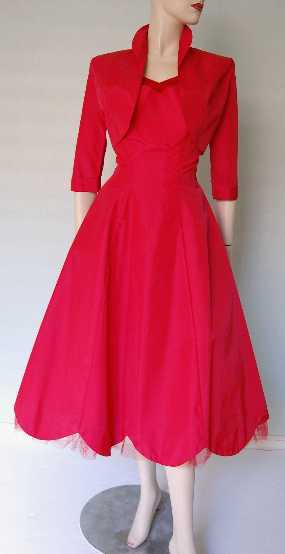 Pale pink vintage outfit bolero jacket Pattern on dress