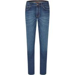 Hattric Herren Harris Jeans de 5 bolsillos Cross Denim Hose High Stretch Modern FitDark Blue W44 / L32 Hattr