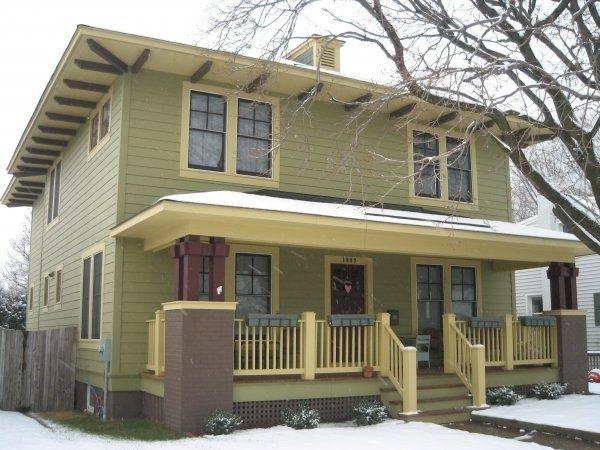 Four Square Home Homes Pinterest Four Square Homes House Exterior Exterior House Colors