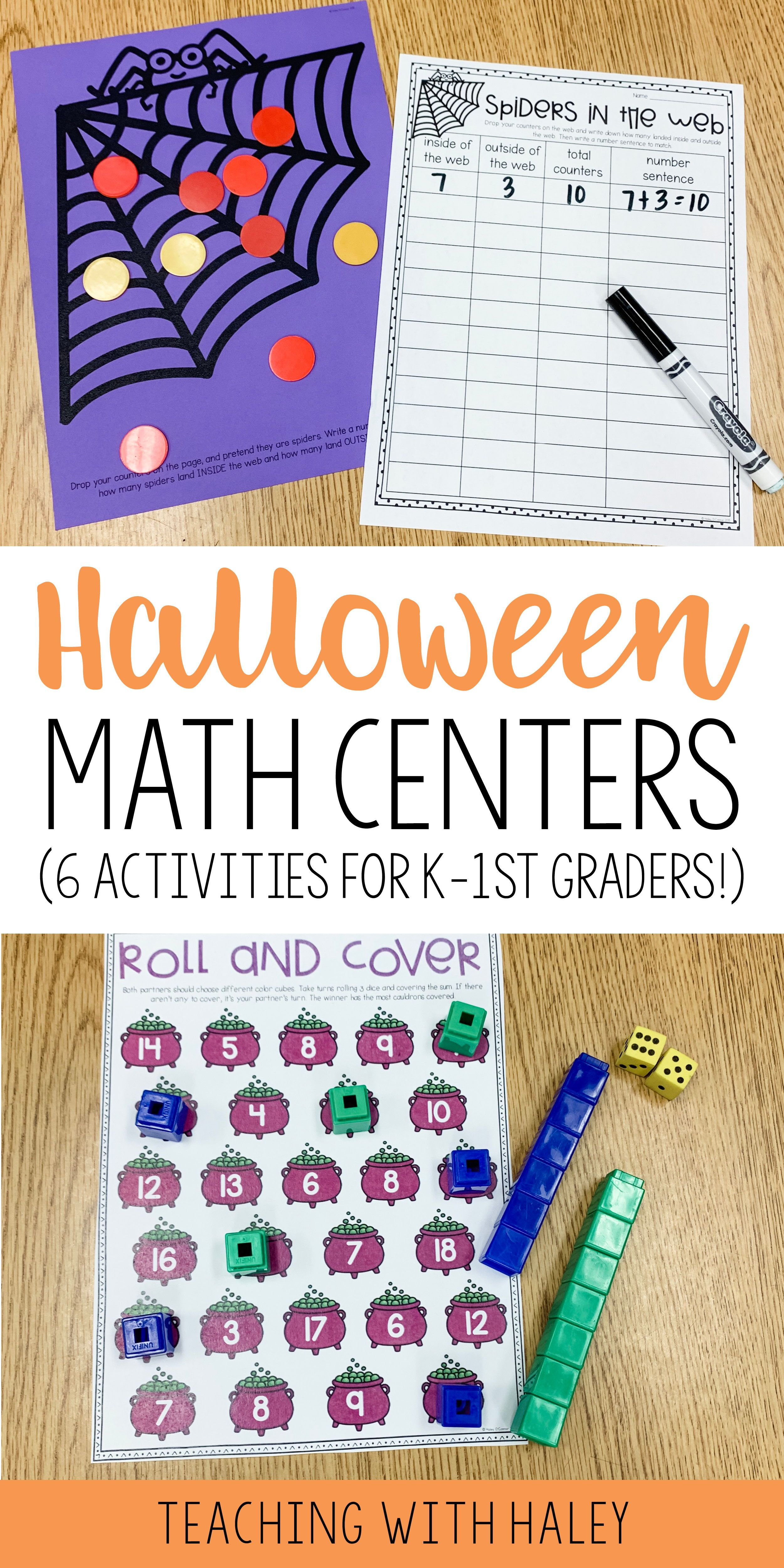Halloween Addition Centers Math Workstations And