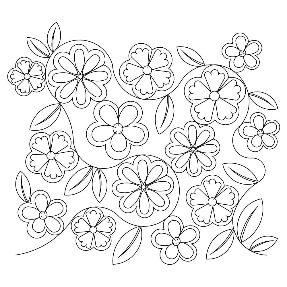 Flower Garden - embroidery pattern | cubos | Pinterest | Camisas ...