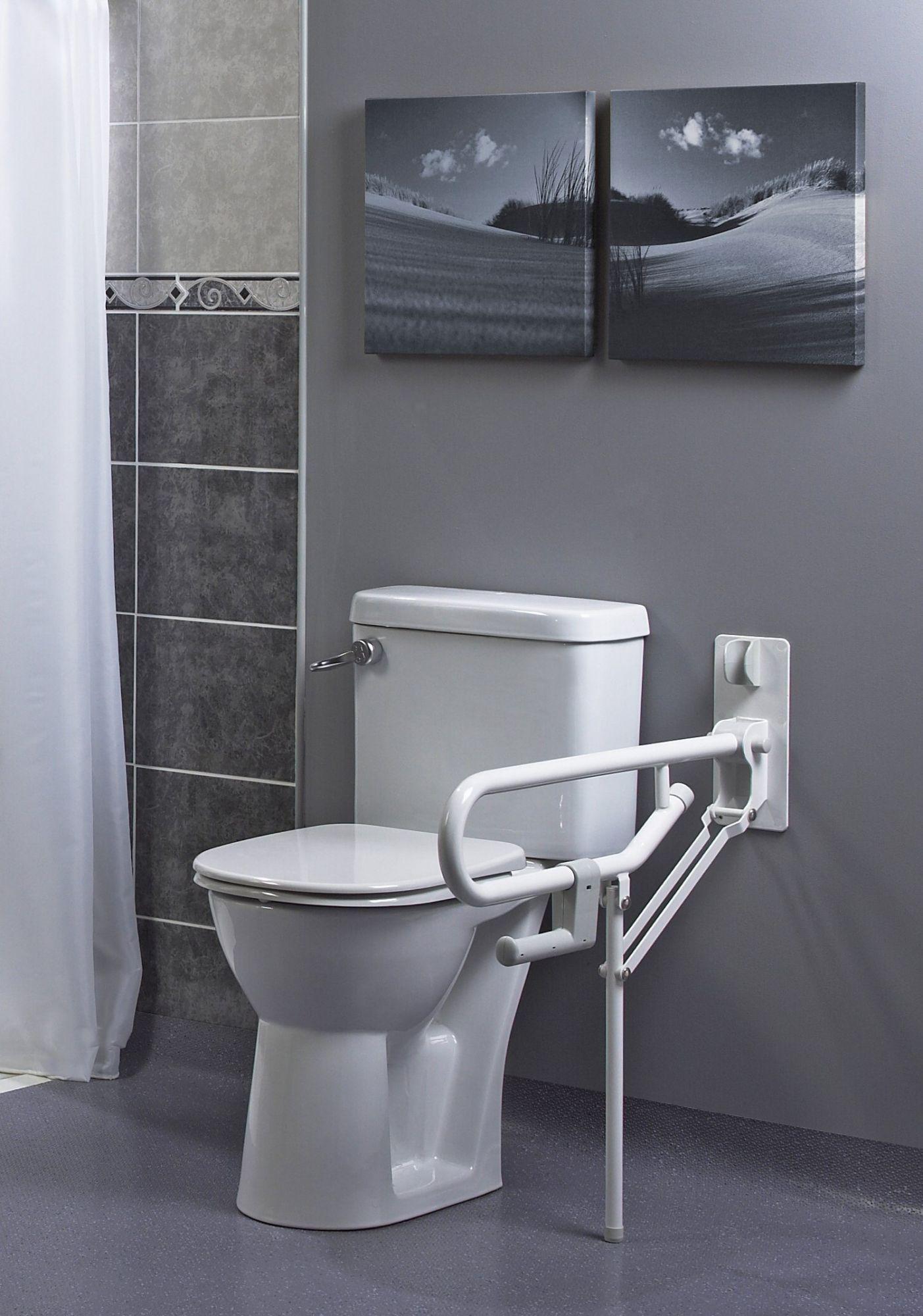 barre d appui wc pro pied fixe la salle de bains mat riel pour handicap s ou personnes ag es. Black Bedroom Furniture Sets. Home Design Ideas