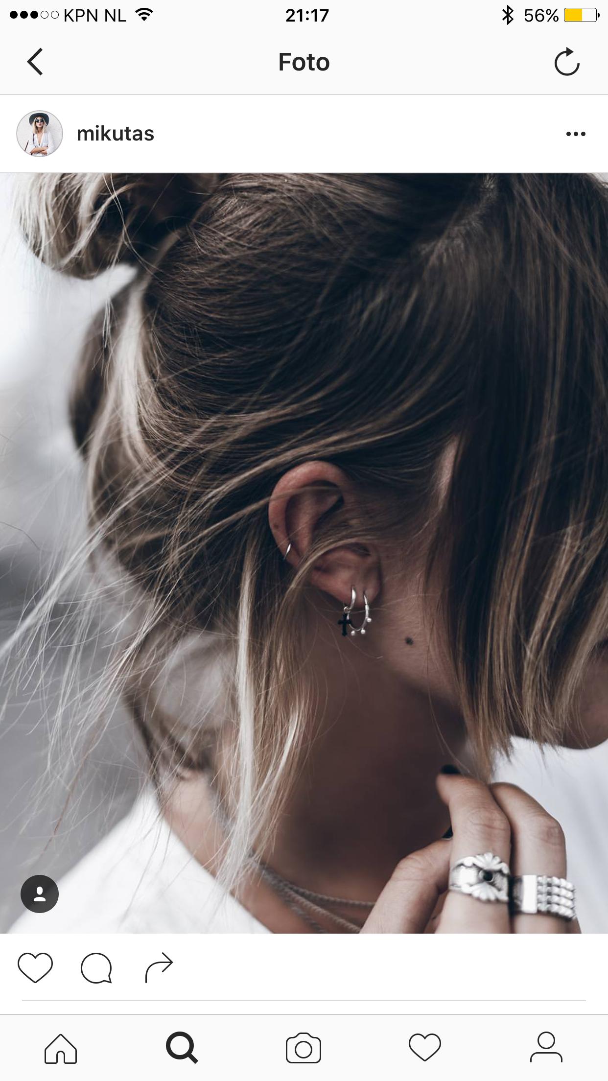 Cute nose piercing  Pin by Eva Zwertbroek on Jewelry  Pinterest  Ear piercings