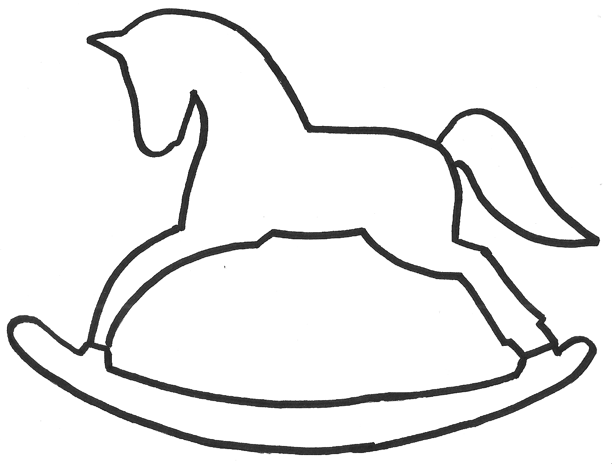 Rocking horse pattern. Use the printable outline for crafts ...