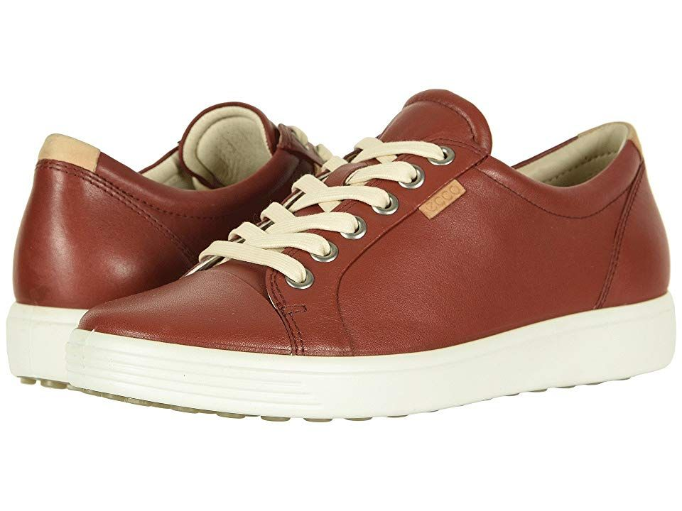 e7b02659 ECCO Soft 7 Sneaker Women's Lace up casual Shoes Fired Brick Cow ...
