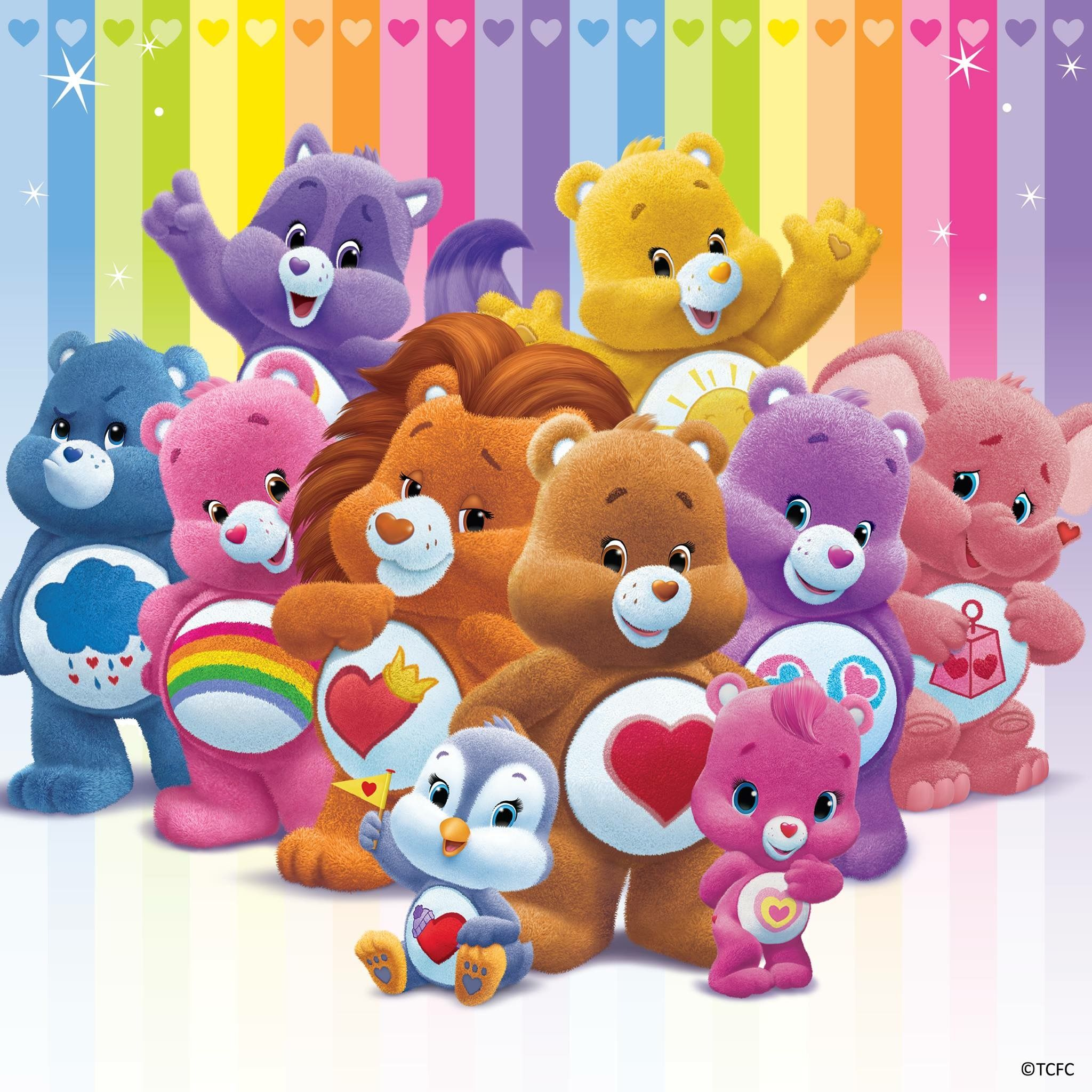 "Party Favors 25 Care Bears Love and Cheer Stickers 2.5/"" x 2.5/"" each"