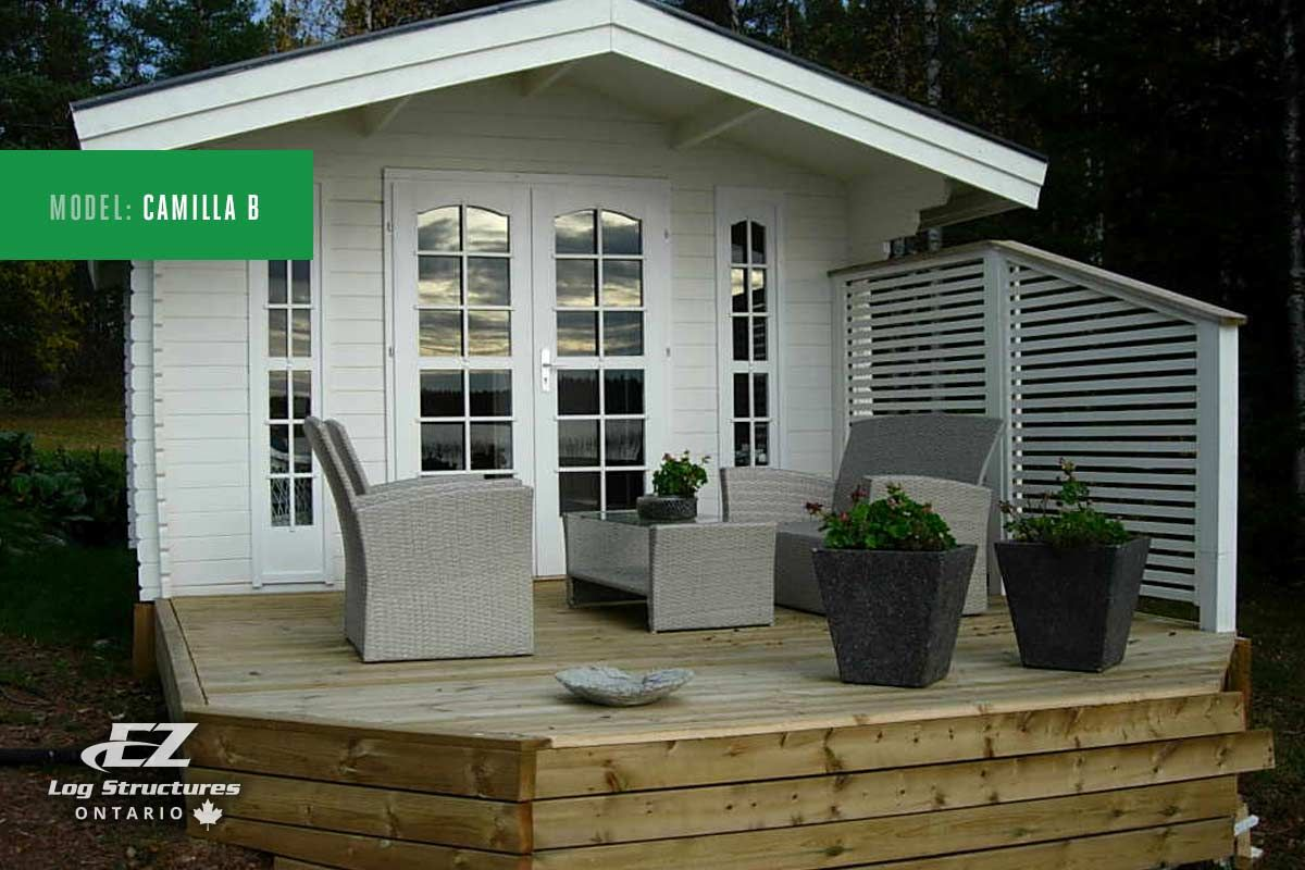 Do it yourself shed building kits by ez log structures easy do it yourself shed building kits by ez log structures easy shipping across ontario for sheds cabanas bunkies more easy assembly solutioingenieria Gallery