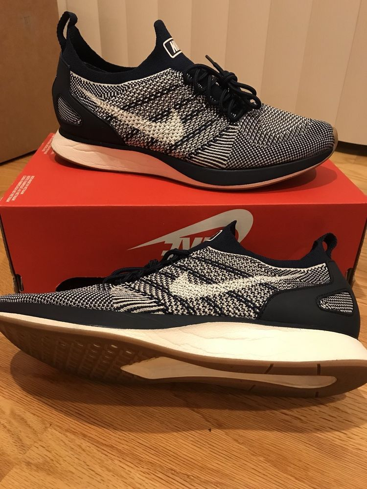2c49d88cfd8 Nike Air Zoom Mariah Flyknit Racer Size 10 Mens College Navy Blue ...