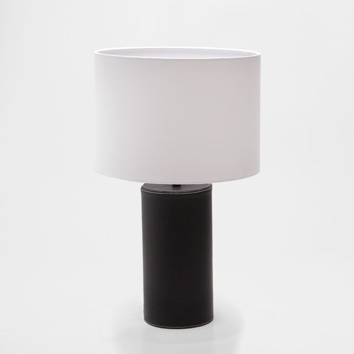 lamp met leren voet lampen decoratie zara home. Black Bedroom Furniture Sets. Home Design Ideas