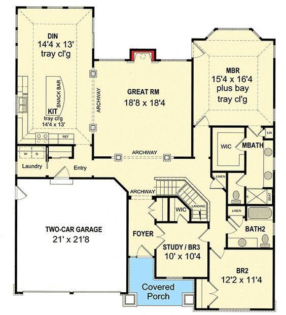 Flexible Craftsman House Plan - 19603JF   1st Floor Master Suite, Bungalow, Cottage, Craftsman, Den-Office-Library-Study, PDF   Architectural Designs