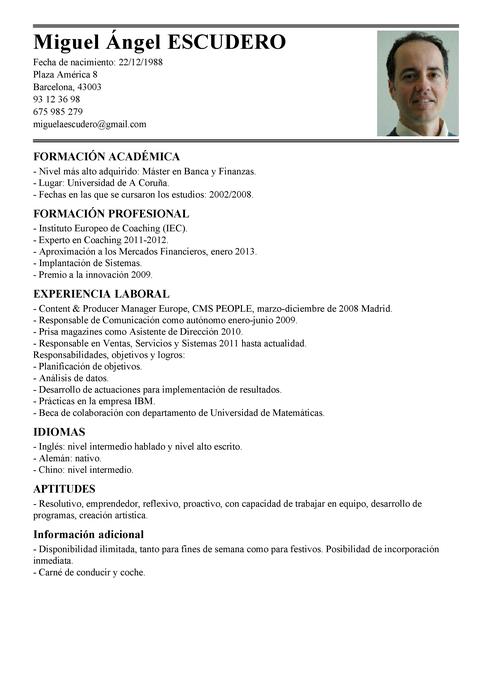 Curriculum Vitae Objetivos Modelo De Curriculum Vitae Curriculum Vitae Essay Curriculum