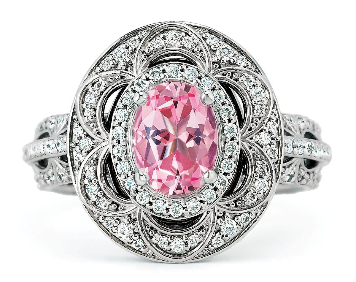 122003(Bridal Jewelry)–Brilliant 14k white gold oval-shaped semi ...