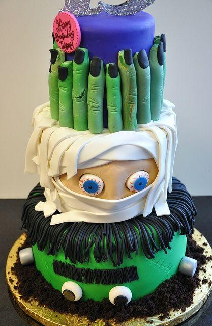 by thecakemamas, via Flickr This is so stinkin\u0027 cute!!! Halloween - halloween birthday cake ideas