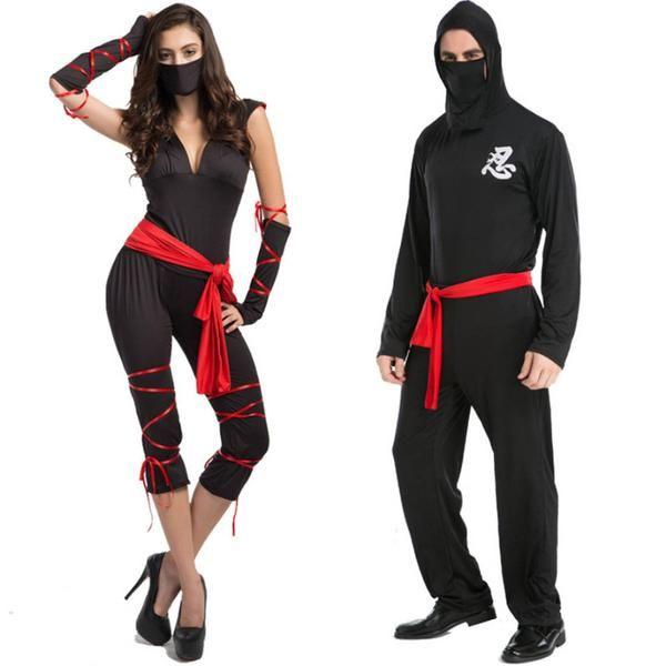 Couple Shirt Ninja Costume Masquerade Party Halloween Samura - teenage couple halloween costume ideas