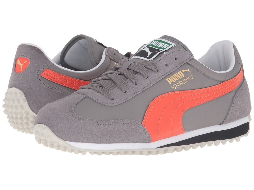 207560d1d592 PUMA PUMA - WHIRLWIND CLASSIC (STEEL GRAY MANDARINE RED) MEN S LACE UP  CASUAL SHOES.  puma  shoes